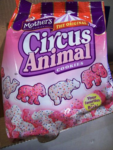 A Bag Of the New Mothers Circus Animal Cookies