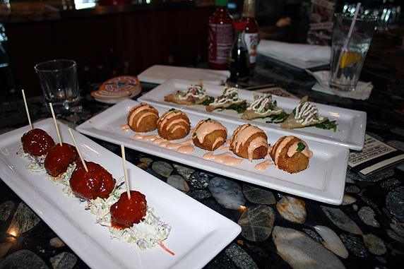 A Mini Food Festival Of Happy Hour Appetizers At Lazy Dog