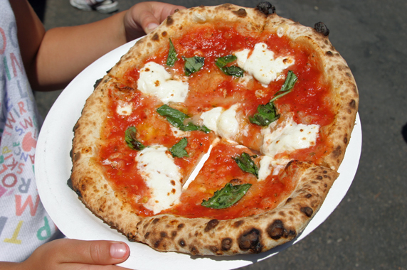 Margherita Pizza from TJ's Wood Fired Pizza