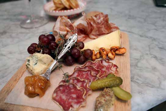 3 Charcuterie plate with meats cheeses and pickles. Almost too pretty to eat u2013 Wine Tasting at Barsha Manhattan Beach & 3 Charcuterie plate with meats cheeses and pickles. Almost too ...