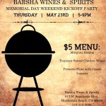 Memorial Day Weekend Kickoff Party at Barsha Wines & Spirits, Manhattan Beach